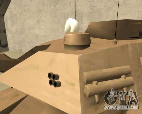 Rhino Mark.VI for GTA San Andreas right view