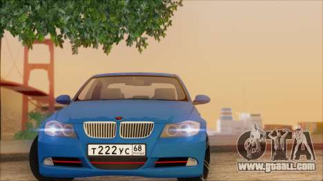 BMW 330i for GTA San Andreas inner view