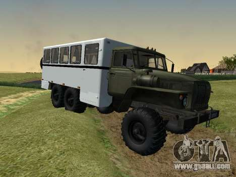 Ural 32551-0011 Watch for GTA San Andreas back left view