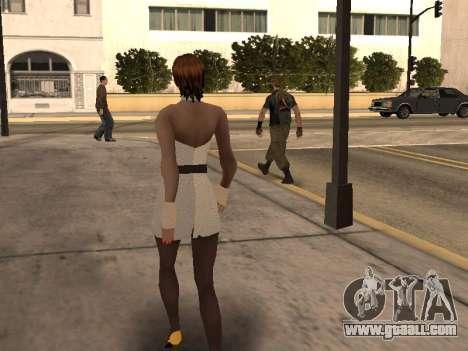 Girl in white dress for GTA San Andreas forth screenshot