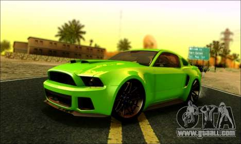 Ford Mustang GT 2013 v2 for GTA San Andreas
