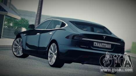 Tesla Model S for GTA San Andreas left view