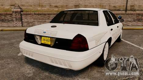 Ford Crown Victoria Traffic Enforcement [ELS] for GTA 4 back left view