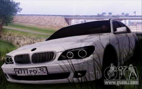 BMW 760Li E66 for GTA San Andreas