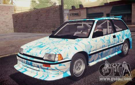 Honda Civic S 1986 IVF for GTA San Andreas