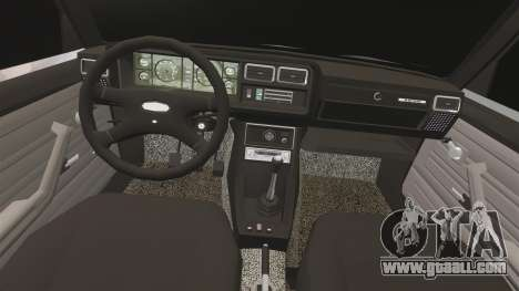 VAZ-2107 Lada for GTA 4 inner view