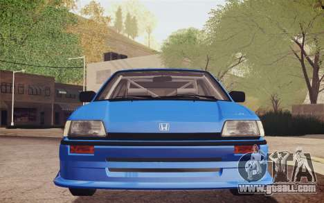 Honda Civic S 1986 IVF for GTA San Andreas side view