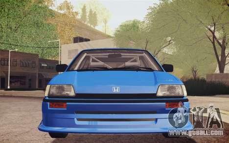 Honda Civic S 1986 IVF for GTA San Andreas side view