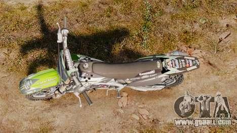 Kawasaki KX250F Monster Energy for GTA 4 right view
