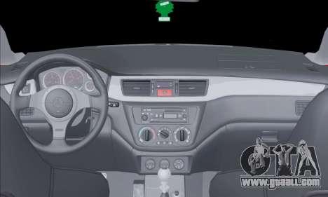 Mitsubishi Outlander Turbo 2005 for GTA San Andreas inner view