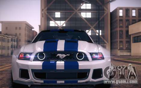 Ford Mustang 2013 - Need For Speed Movie Edition for GTA San Andreas
