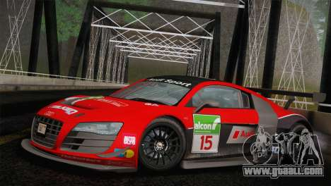 Audi R8 LMS Ultra Old Vinyls for GTA San Andreas inner view