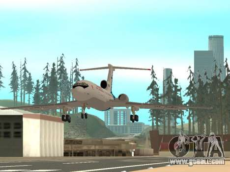 Tu-154 B-2 SCC of Russia for GTA San Andreas back left view
