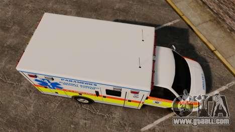 GMC Savana 2005 Ambulance [ELS] for GTA 4 right view