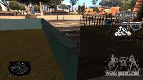 C-Hud Heavy Metal for GTA San Andreas third screenshot