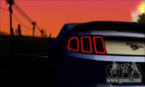 Ford Mustang GT 2013 v2 for GTA San Andreas back view