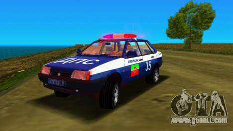 VAZ 21099 Militia for GTA Vice City side view