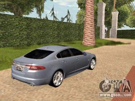 Jaguar XFR 2010 for GTA San Andreas left view