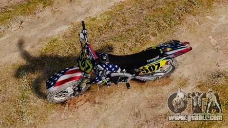 Kawasaki KX250F USA for GTA 4 right view