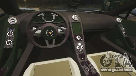 McLaren MP4-12C Spider 2013 for GTA 4 inner view
