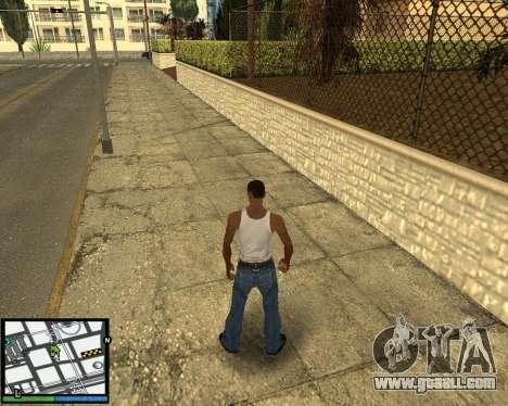 GTA V hud for GTA San Andreas third screenshot