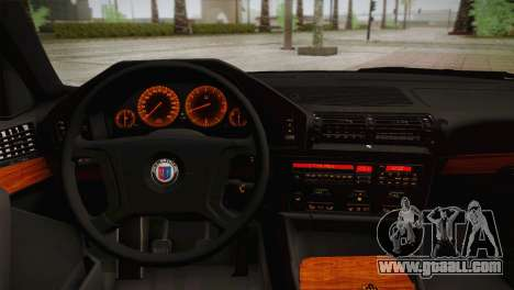 BMW E34 Alpina B10 for GTA San Andreas back view