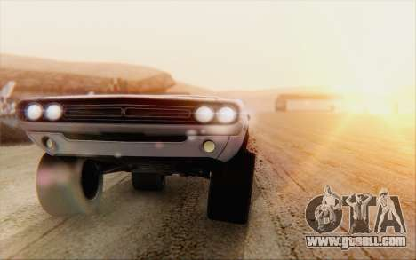 Dodge Challenger 1971 Aftermix for GTA San Andreas back left view