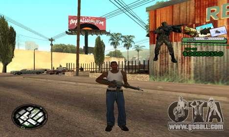 C-HUD Army Troops for GTA San Andreas second screenshot