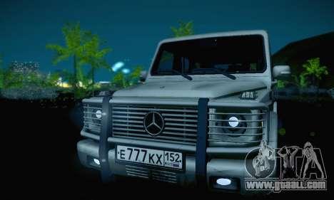 Mercedes-Benz G500 for GTA San Andreas upper view