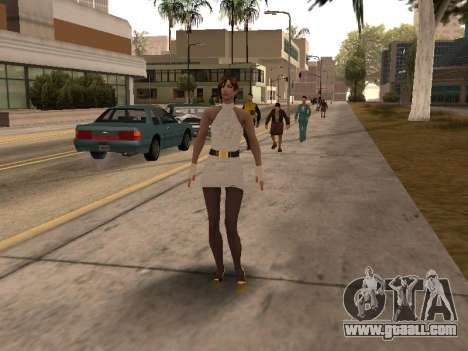 Girl in white dress for GTA San Andreas third screenshot