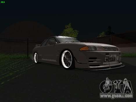 Nissan Skyline BNR32 for GTA San Andreas back left view