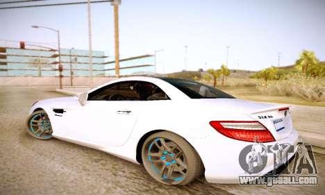 Mercedes Benz SLK55 AMG 2011 for GTA San Andreas left view