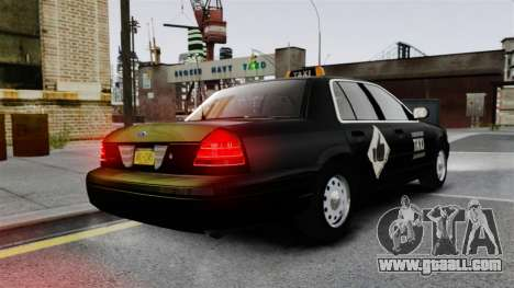 Ford Crown Victoria Cab for GTA 4 back left view