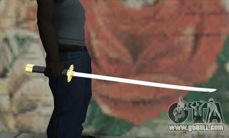 New Katana for GTA San Andreas third screenshot