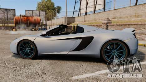 McLaren MP4-12C Spider 2013 for GTA 4 left view