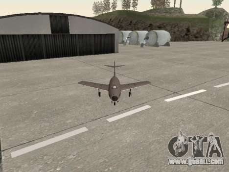 MiG 15 Bis for GTA San Andreas back view