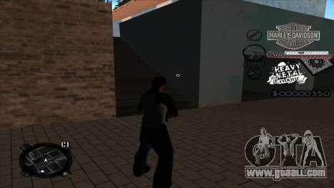 C-Hud Heavy Metal for GTA San Andreas