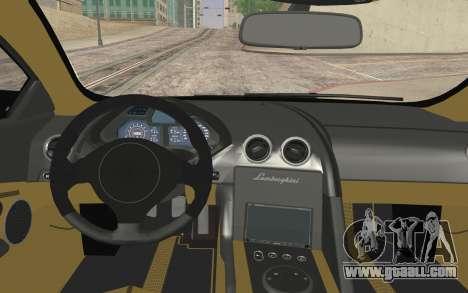 Lamborghini Reventon Police Car for GTA San Andreas back left view