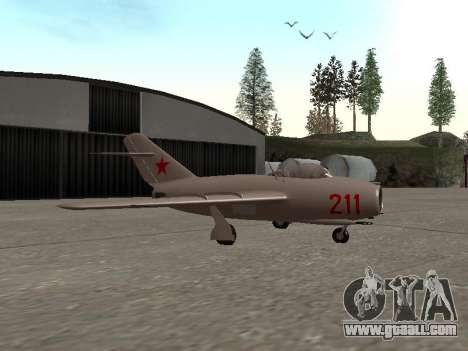 MiG 15 Bis for GTA San Andreas