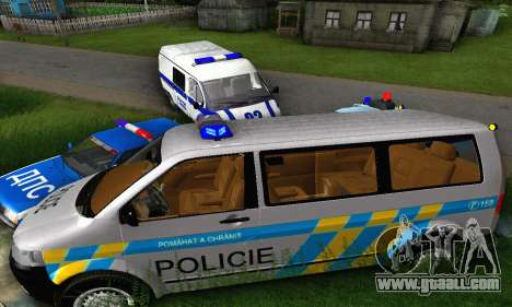 Volkswagen Transporter Policie for GTA San Andreas back view