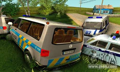 Volkswagen Transporter Policie for GTA San Andreas bottom view