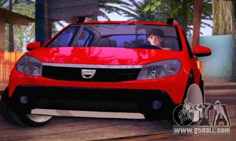 Dacia Sandero for GTA San Andreas side view