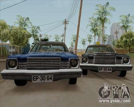 Dodge Aspen for GTA San Andreas right view