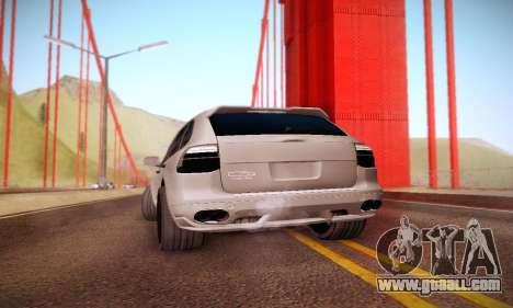 Porsche Cayenne for GTA San Andreas back view