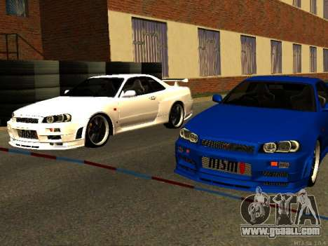 Nissan Skyline R34 GT-R for GTA San Andreas inner view