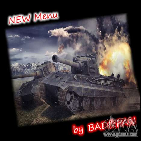 Menu World of Tanks for GTA San Andreas