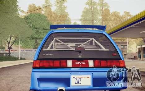 Honda Civic S 1986 IVF for GTA San Andreas bottom view