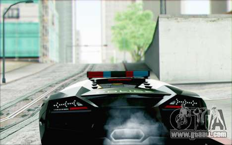 Lamborghini Reventon Police Car for GTA San Andreas left view