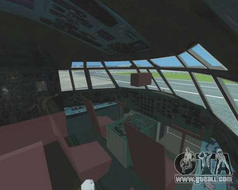 Il-76TD Aviacon zitotrans for GTA San Andreas inner view