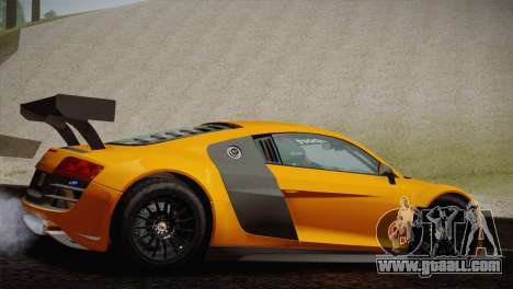 Audi R8 LMS Ultra Old Vinyls for GTA San Andreas right view